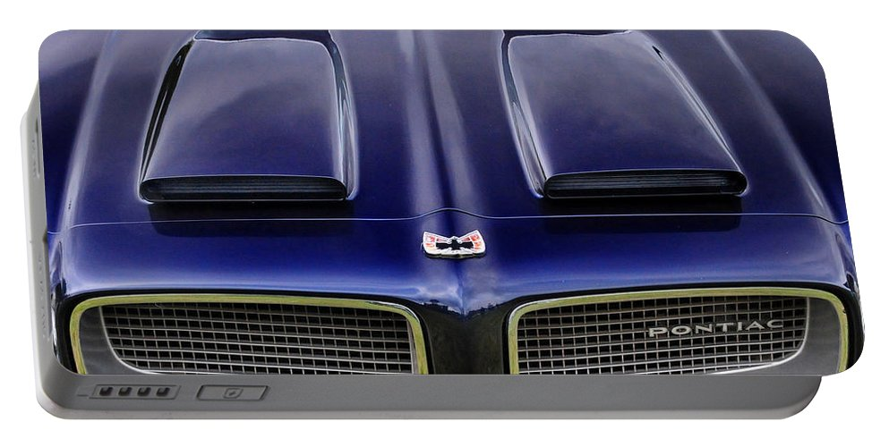Pontiac Portable Battery Charger featuring the photograph Pontiac Hood by Dave Mills