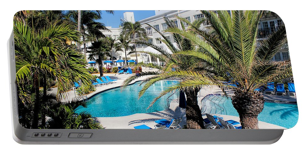 Pool Portable Battery Charger featuring the photograph Poolside 01 by Carlos Diaz