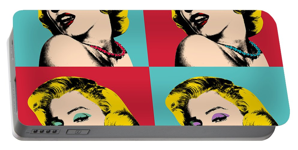 Pop Art Portable Battery Charger featuring the painting Pop Art Collage by Mark Ashkenazi