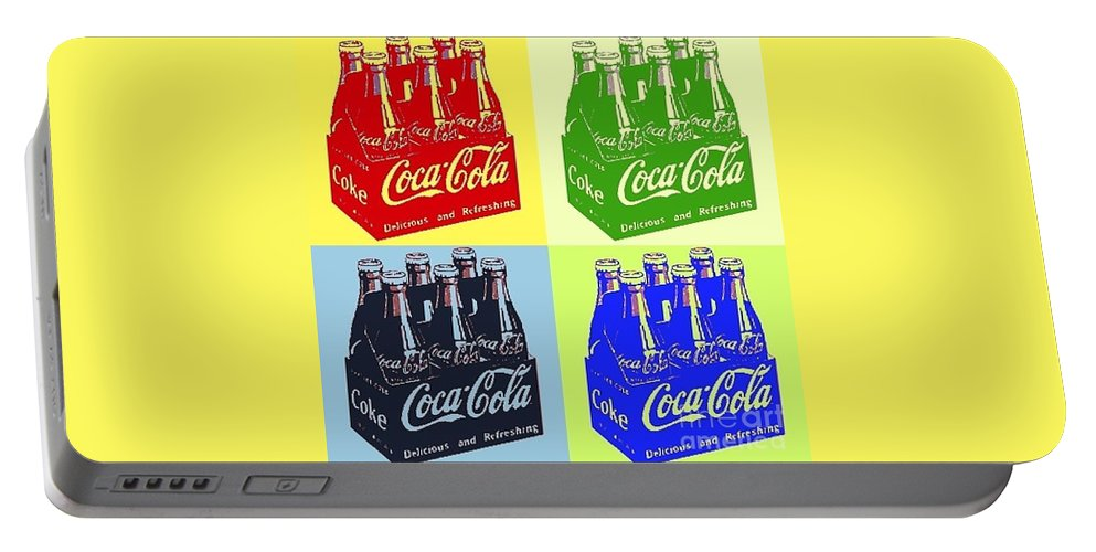 Coca Cola Portable Battery Charger featuring the photograph Pop Coke by The Art of Alice Terrill