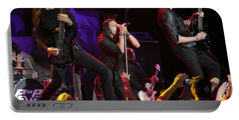 Downloads Portable Battery Charger featuring the photograph Pop Evil by Concert Photos