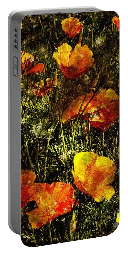 Poppies Portable Battery Charger featuring the painting Poppies Will Make Them Sleep by RC DeWinter