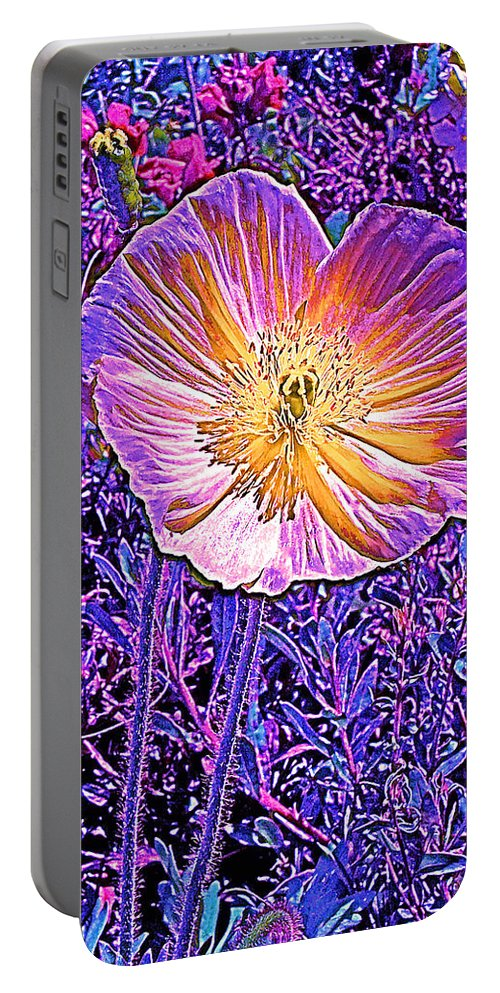 Flowers Portable Battery Charger featuring the photograph Poppy 3 by Pamela Cooper