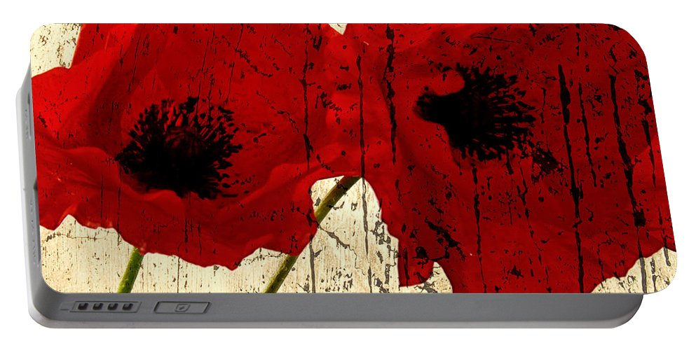 Background Portable Battery Charger featuring the photograph Poppy Art by TouTouke A Y