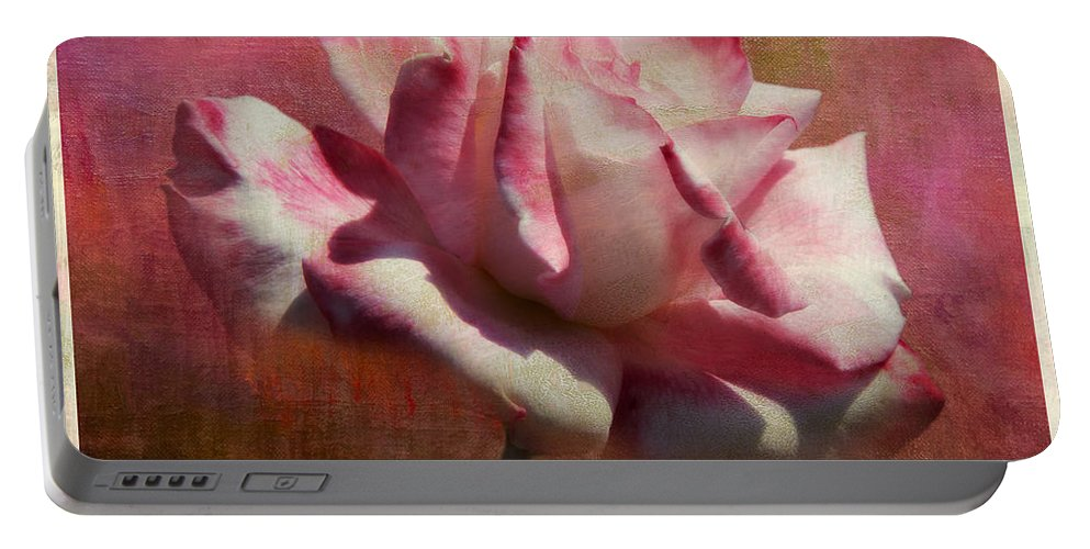 Botanicals Portable Battery Charger featuring the photograph Poppy Rose by Linda Dunn