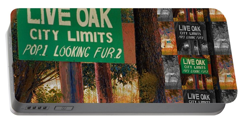 Live Oak Portable Battery Charger featuring the photograph Population 1 Looking Fur 2 by Bob Pardue