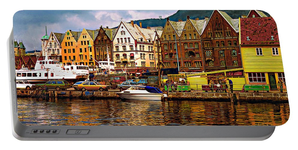 Alesund Portable Battery Charger featuring the photograph Port Life by Steve Harrington