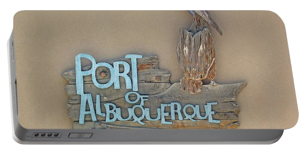 Port Portable Battery Charger featuring the photograph Port Of Albuquerque by Jennifer Lavigne