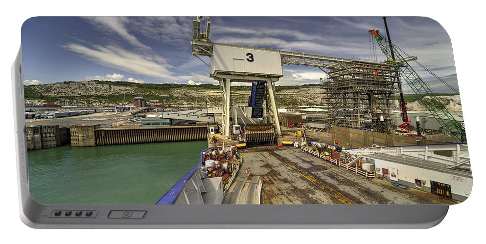 Dover Portable Battery Charger featuring the photograph Port Of Dover by Rob Hawkins