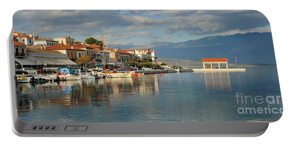 Galaxidi Portable Battery Charger featuring the photograph Port Of Galaxidi by Grigorios Moraitis