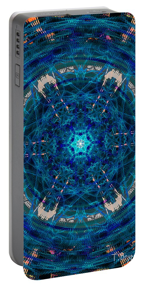 Portal Portable Battery Charger featuring the painting Portal by Kume Bryant
