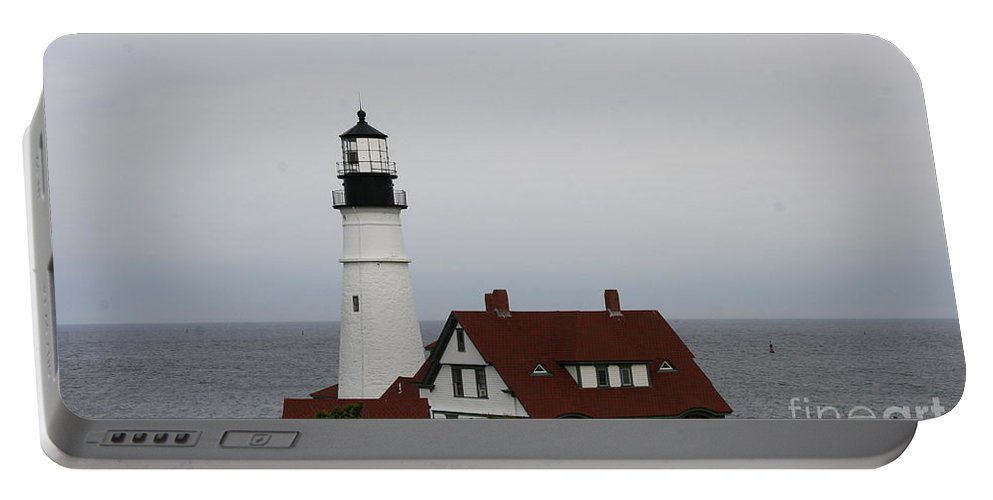 Portland Head Light Portable Battery Charger featuring the photograph Portland Head Light I by Christiane Schulze Art And Photography