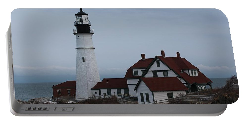 Lighthouse Portable Battery Charger featuring the photograph Portland Head Lighthouse 8529 by Joseph Marquis