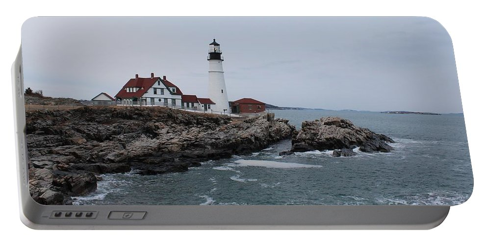 Lighthouse Portable Battery Charger featuring the photograph Portland Head Lighthouse 8557 by Joseph Marquis