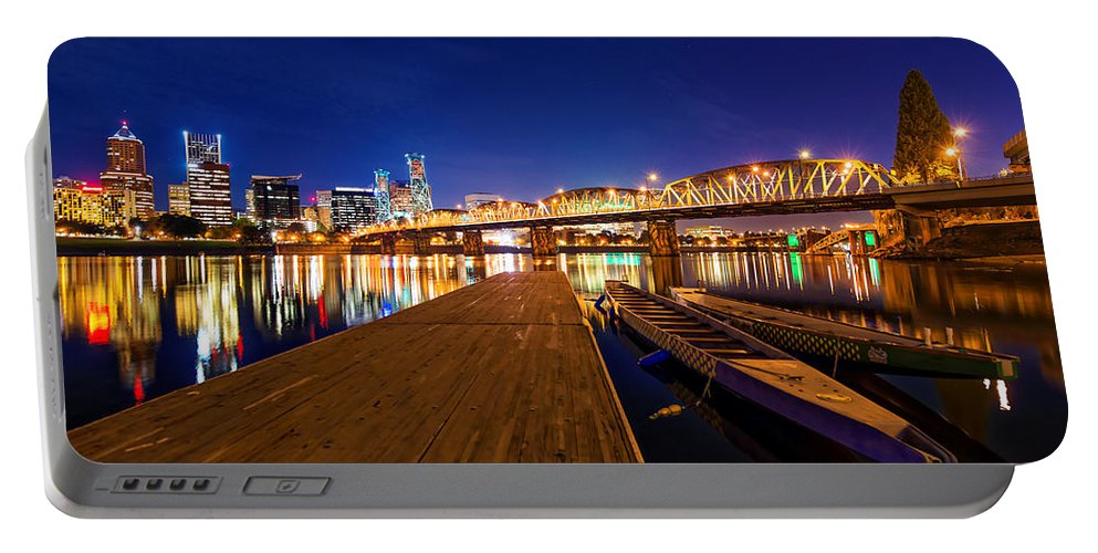 Portland Portable Battery Charger featuring the photograph Portland Under The Stars by Dustin LeFevre