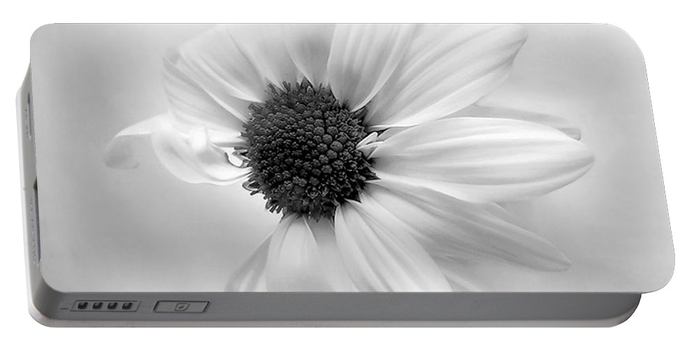 Daisy Portable Battery Charger featuring the photograph Portrait Of A Daisy by Louise Kumpf