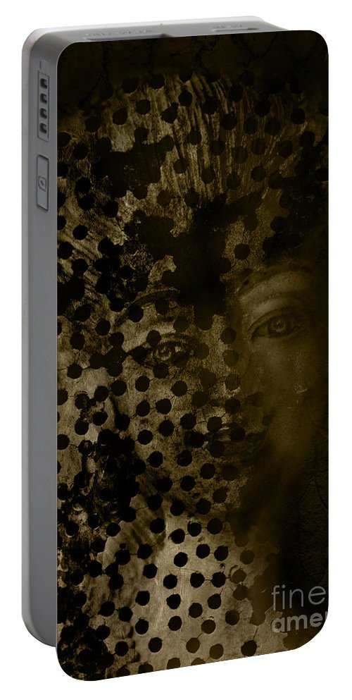 Woman Portable Battery Charger featuring the digital art Portrait Of A Leopardess by Nola Lee Kelsey
