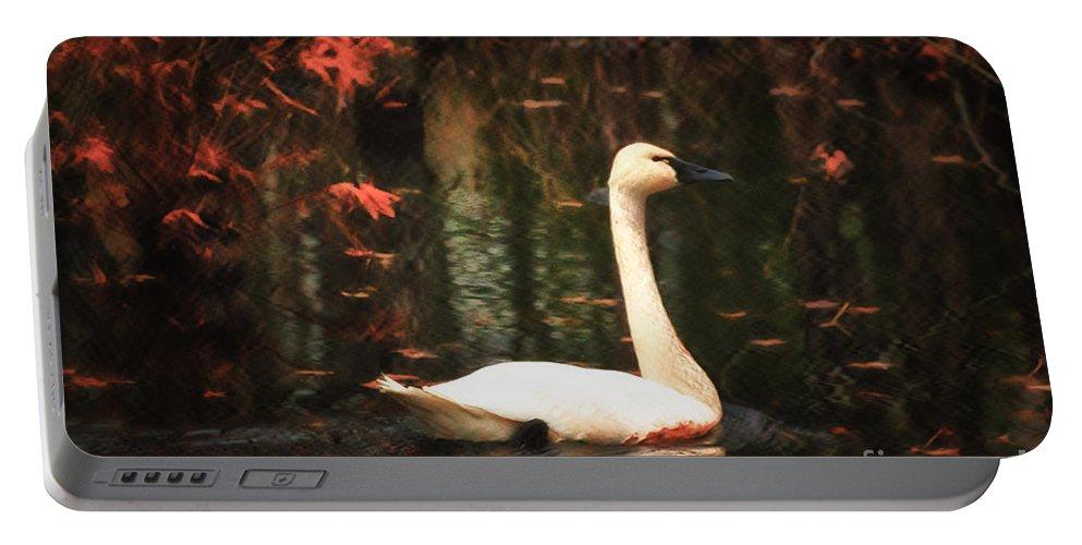 Portrait Portable Battery Charger featuring the photograph Portrait Of A Swan by Scott Hervieux