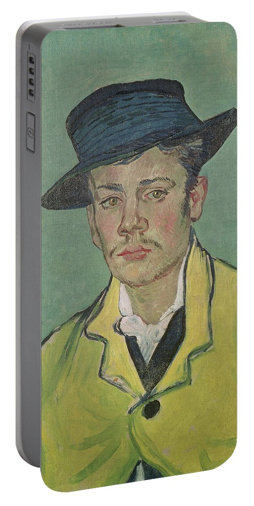 Hat Portable Battery Charger featuring the painting Portrait Of Armand Roulin by Vincent Van Gogh