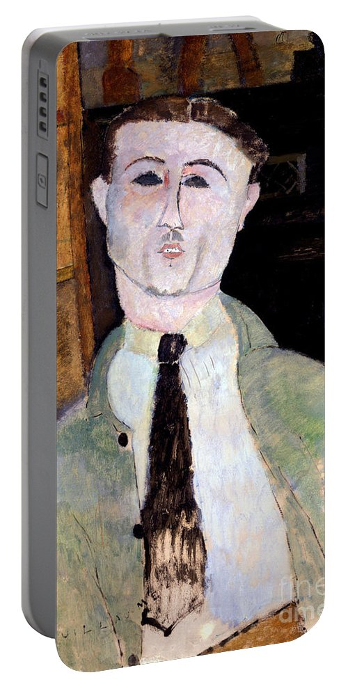Modigliani Portable Battery Charger featuring the painting Portrait Of Paul Guillaume by Amedeo Modigliani