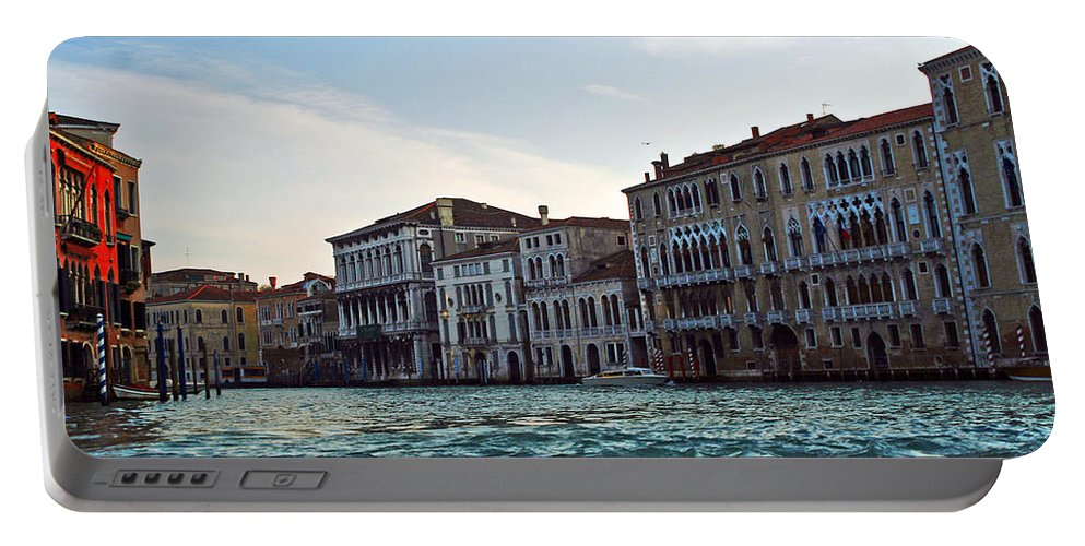 Travel Portable Battery Charger featuring the photograph Portrait Of Venice by Elvis Vaughn