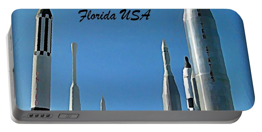 Post Card Of The Kennedy Space Centre Florida Portable Battery Charger featuring the photograph Post Card Of The Kennedy Space Centre Florida by John Malone