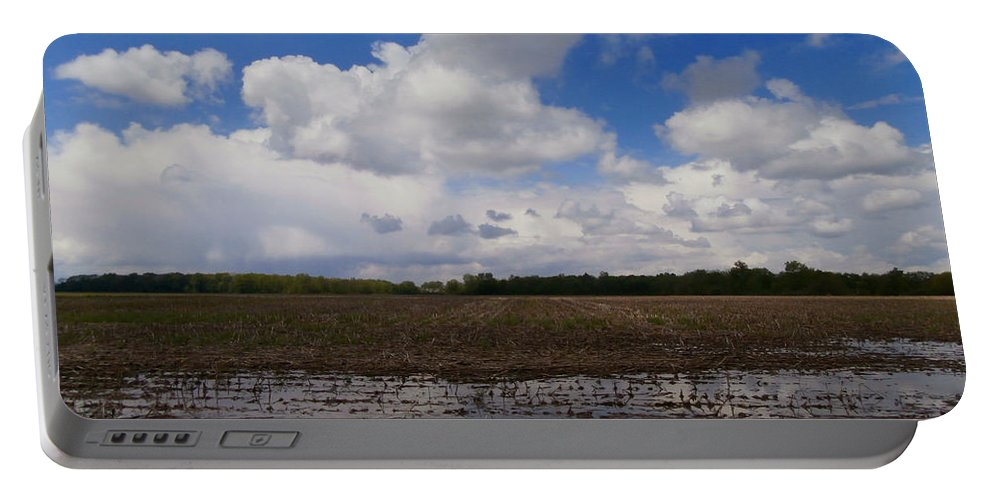 Indiana Portable Battery Charger featuring the photograph Post Storm Reflections by Dan McCafferty