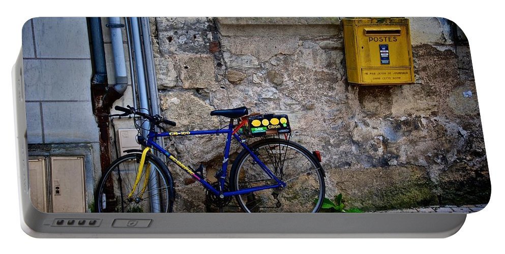 Bycicle Portable Battery Charger featuring the photograph Postes by Eric Tressler