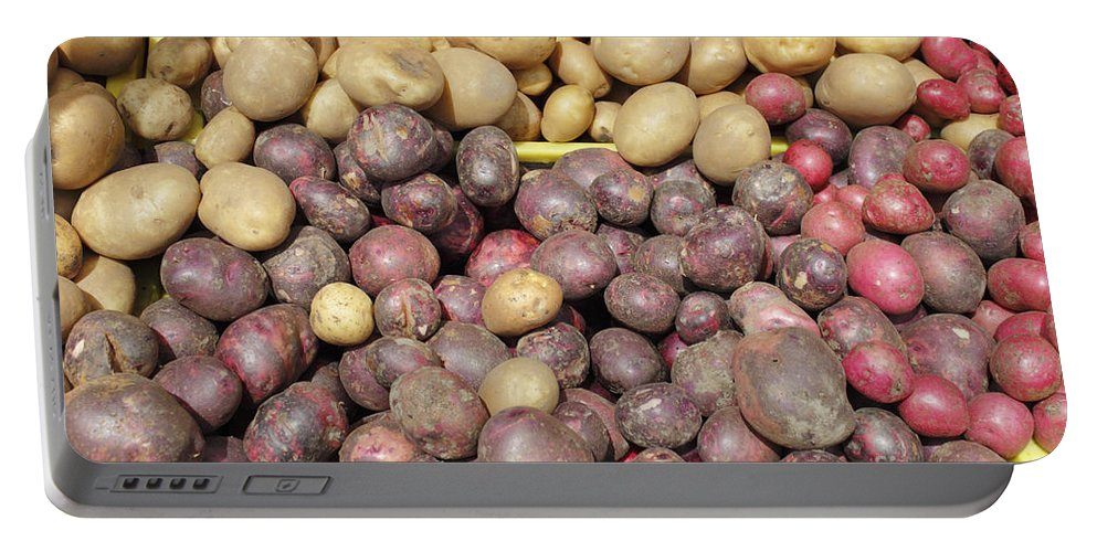 Potato Portable Battery Charger featuring the photograph Potato Variety Display by Lee Serenethos