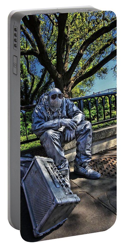 Landscape Portable Battery Charger featuring the photograph Power Failure by Robert McCubbin