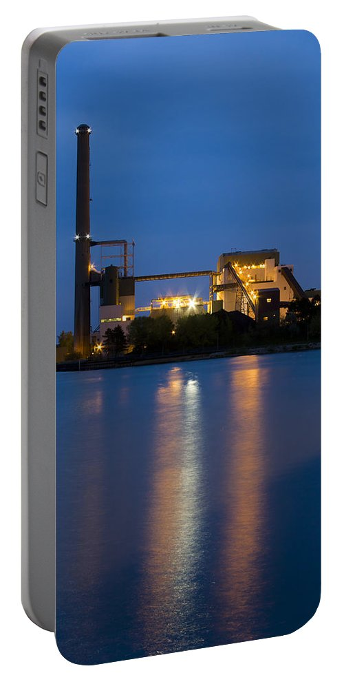 3scape Photos Portable Battery Charger featuring the photograph Power Plant by Adam Romanowicz