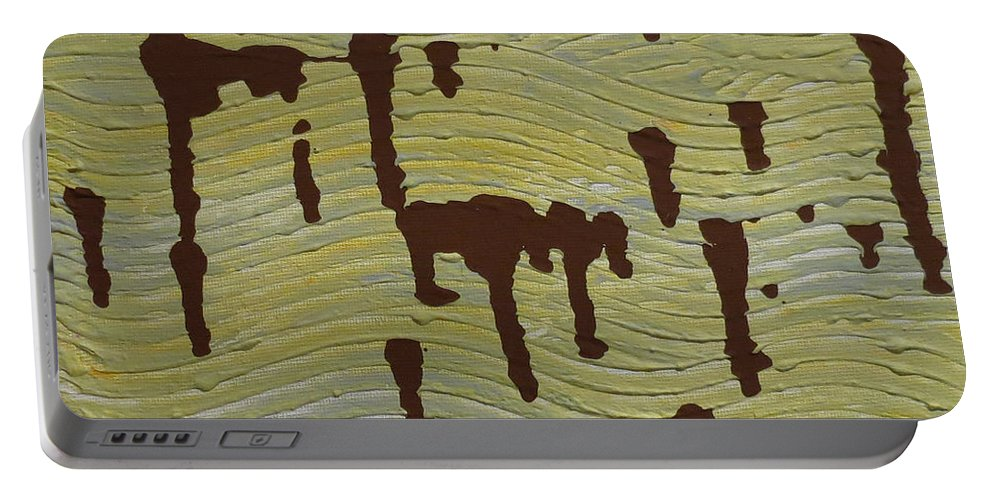 Powerful Wind Portable Battery Charger featuring the painting Powerful Wind by Elizabeth Harshman
