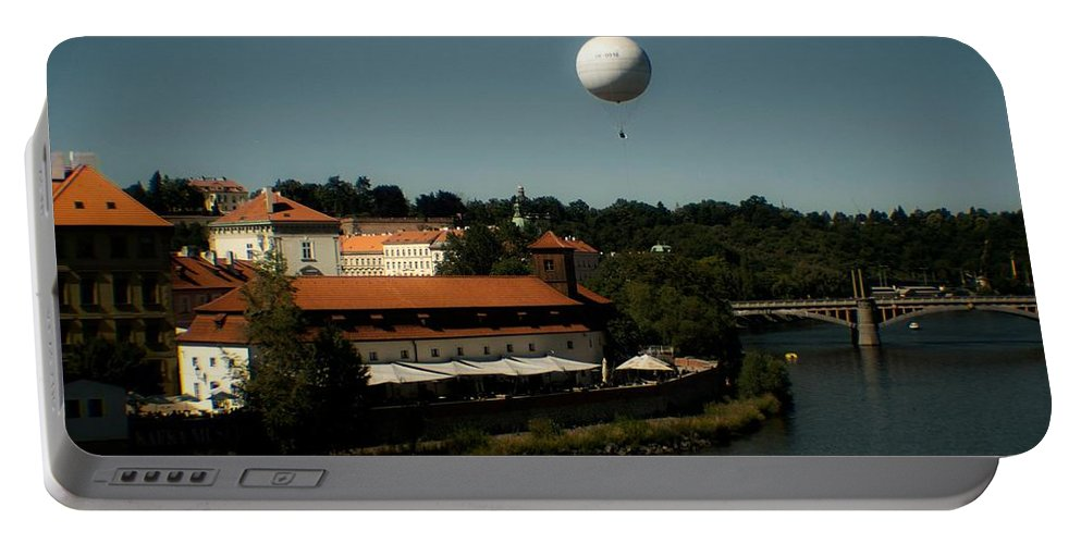 Prague Portable Battery Charger featuring the photograph Prague In The Day by Kathleen Odenthal