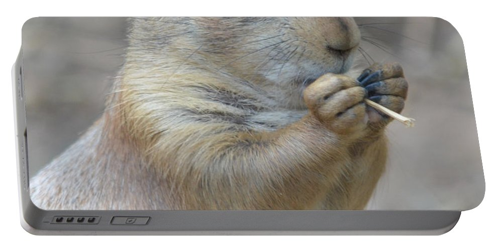 Prairie Portable Battery Charger featuring the photograph Prairie Dog Treat by Richard Bryce and Family
