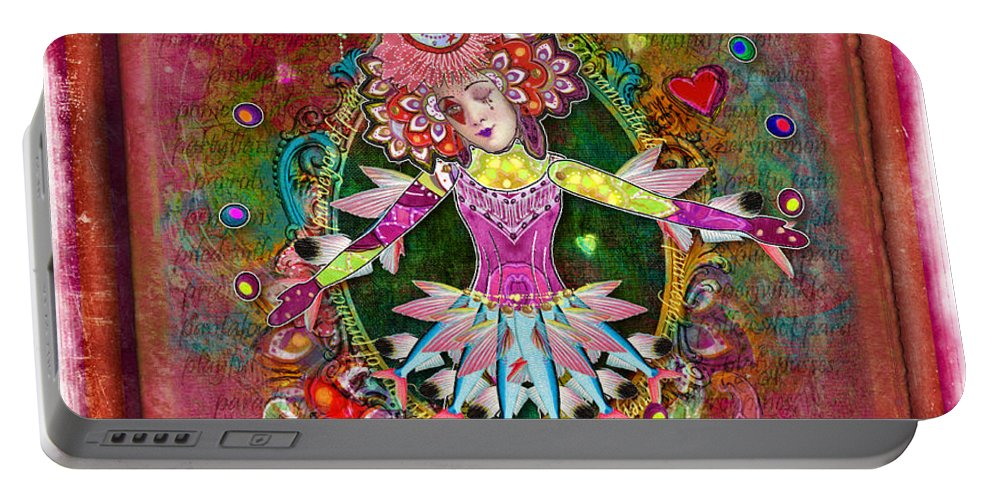 Aimee Stewart Portable Battery Charger featuring the digital art Pranceitude by Amy Stewart