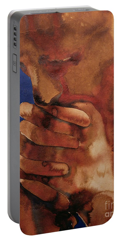 Prayer Portable Battery Charger featuring the painting Prayer by Graham Dean