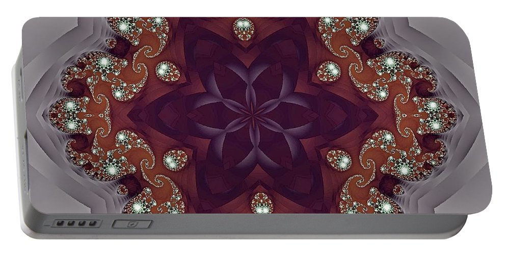 Kaleidoscope Portable Battery Charger featuring the photograph Precious by Lena Photo Art
