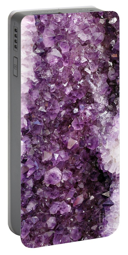 Quartz Portable Battery Charger featuring the photograph Precious Stones Formation by Lee Serenethos