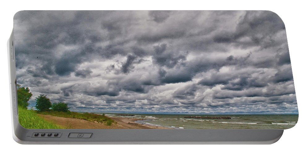 Landscape Portable Battery Charger featuring the photograph Presque Isle Beach 12061 by Guy Whiteley