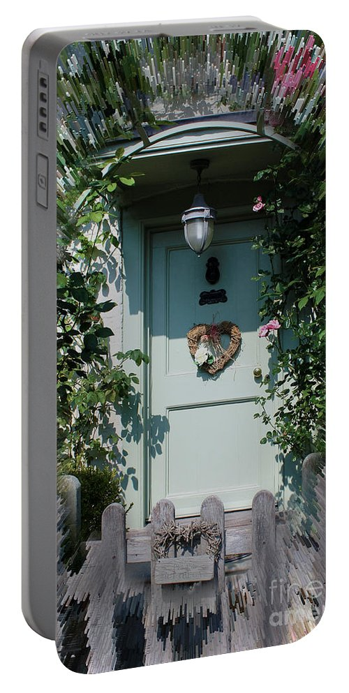 Front Door Portable Battery Charger featuring the photograph Pretty Door In Nether Wallop by Terri Waters