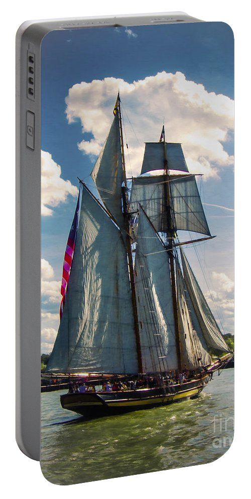 Photography Portable Battery Charger featuring the digital art Pride Of Baltimore 1 by Kathryn Strick