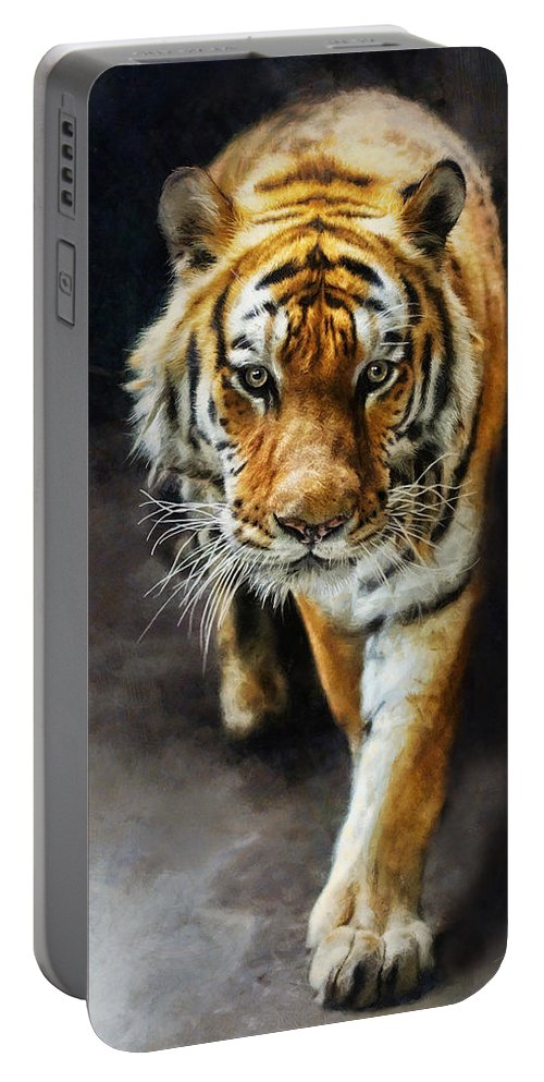 Marcin Portable Battery Charger featuring the digital art Primal Instincts by Marcin and Dawid Witukiewicz