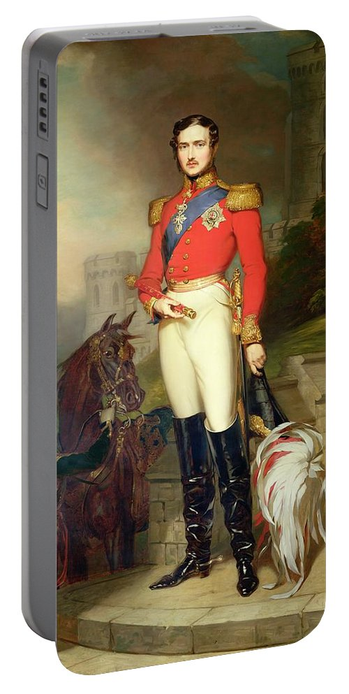 Fusilier Portable Battery Charger featuring the painting Prince Albert by John Lucas