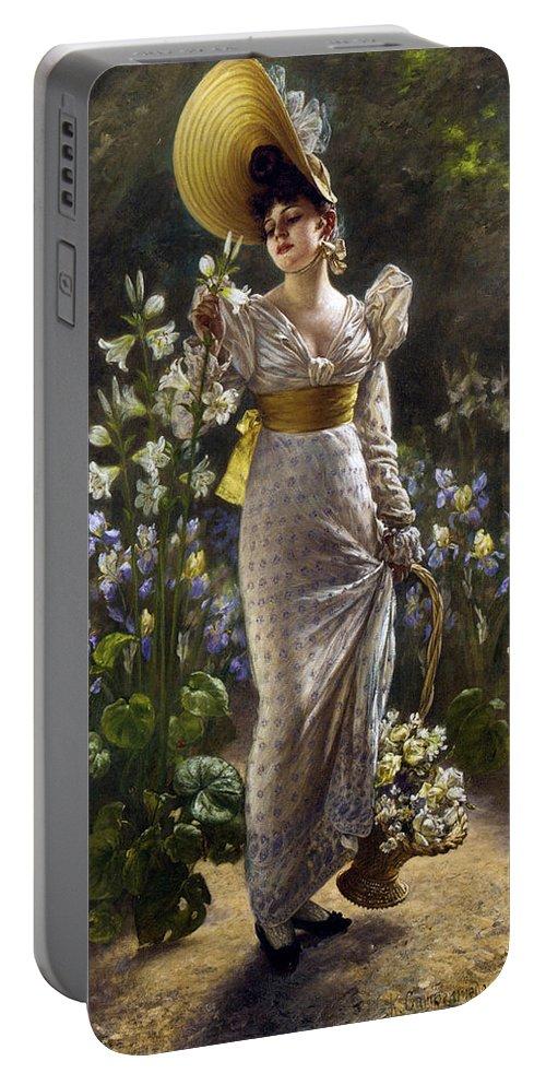 Karl Gampenrieder Portable Battery Charger featuring the digital art Princess Elvina Of Bavaria by Karl Gampenrieder