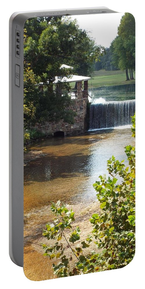 South Fork Spring River Portable Battery Charger featuring the photograph Private Retreat by Cynthia Croal
