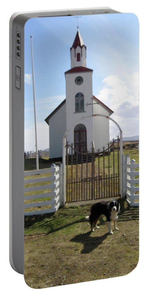 Church Portable Battery Charger featuring the photograph Protector by Kimberly Maxwell Grantier
