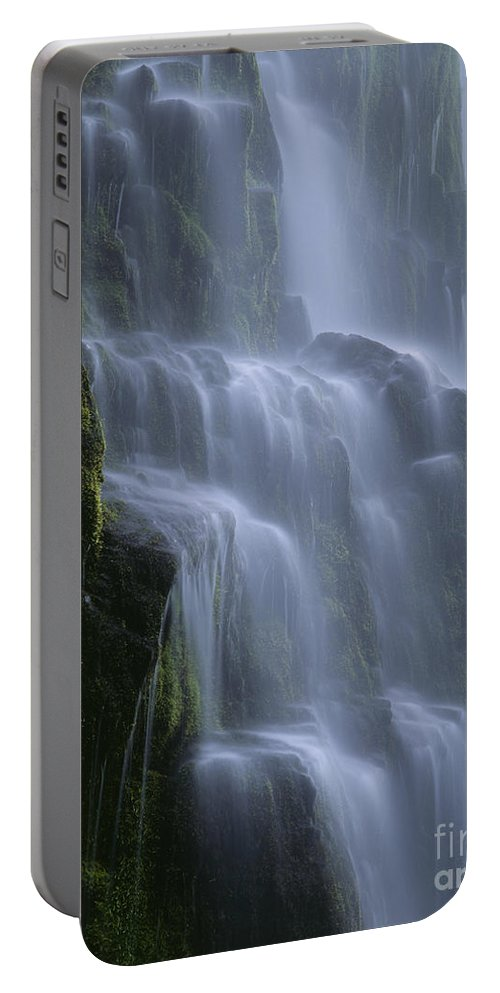 Americana Portable Battery Charger featuring the photograph Proxy Falls by Jim Corwin