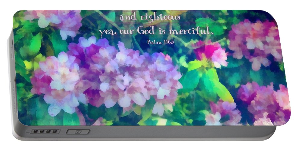 Jesus Portable Battery Charger featuring the digital art Psalm 116 5 by Michelle Greene Wheeler