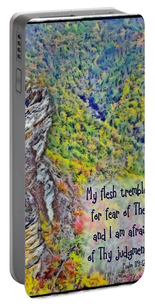 Jesus Portable Battery Charger featuring the digital art Psalm 119 110 by Michelle Greene Wheeler