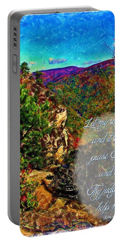 Jesus Portable Battery Charger featuring the digital art Psalm 119 175 by Michelle Greene Wheeler